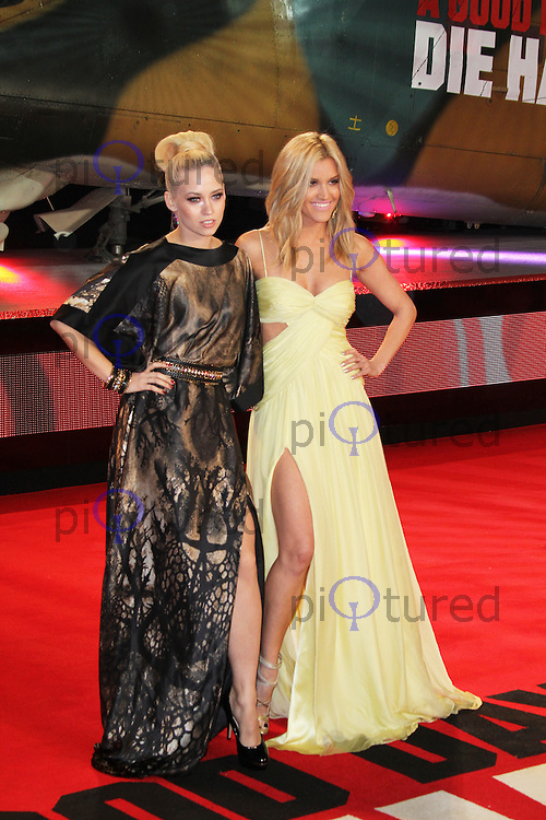 Kimberly Wyatt; Ashley Roberts, A Good Day To Die Hard - UK Film Premiere, Empire Cinema Leicester Square, London UK, 07 February 2013, (Photo by Richard Goldschmidt)