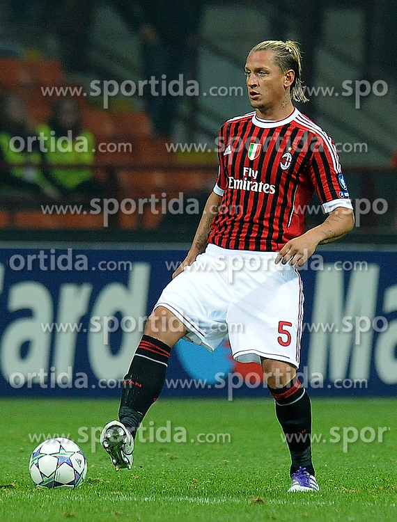 19.10.2011, Giuseppe Meazza Stadion, Mailand, ITA, UEFA CL, Gruppe H, AC Mailand (ITA) vs BATE Baryssau (BLR), im Bild Philippe Mexes Milan. // during UEFA Champions League group a match between AC Mailand (ITA) and BATE Baryssau (BLR) at Giuseppe Meazza Stadium, Milan, Italy on 19/10/2011. EXPA Pictures © 2011, PhotoCredit: EXPA/ InsideFoto/ Alessandro Sabattini +++++ ATTENTION - FOR AUSTRIA/(AUT), SLOVENIA/(SLO), SERBIA/(SRB), CROATIA/(CRO), SWISS/(SUI) and SWEDEN/(SWE) CLIENT ONLY +++++