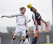 Dundee&rsquo;s Julen Etxabeguren and Dumbarton's Robert Thomson - Dumbarton v Dundee, pre-season friendly at the Cheaper Insurance Direct Stadium, Dumbarton<br /> <br />  - &copy; David Young - www.davidyoungphoto.co.uk - email: davidyoungphoto@gmail.com