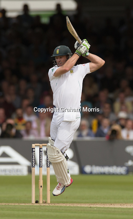 AB de Villiers bats during the third and final Investec Test Match between England and South Africa at Lord's Cricket Ground, London. Photo: Graham Morris (Tel: +44(0)20 8969 4192 Email: sales@cricketpix.com) 16/08/12