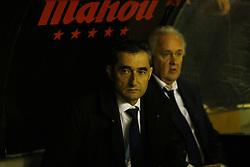 November 3, 2018 - Madrid, Spain - Ernesto Valverde (FC Barcelona) seen before the La Liga match between Rayo Vallecano and FC Barcelona at Estadio Vallecas in Madrid. (Credit Image: © Manu Reino/SOPA Images via ZUMA Wire)