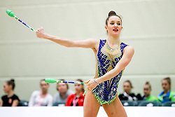 Anja Tomazin of Slovenia competes during 31st MTM - International tournament in rhythmic gymnastics Ljubljana, on April 7, 2018 in Gymnastics center Ljubljana, Ljubljana, Slovenia. Photo by Matic Klansek Velej / Sportida