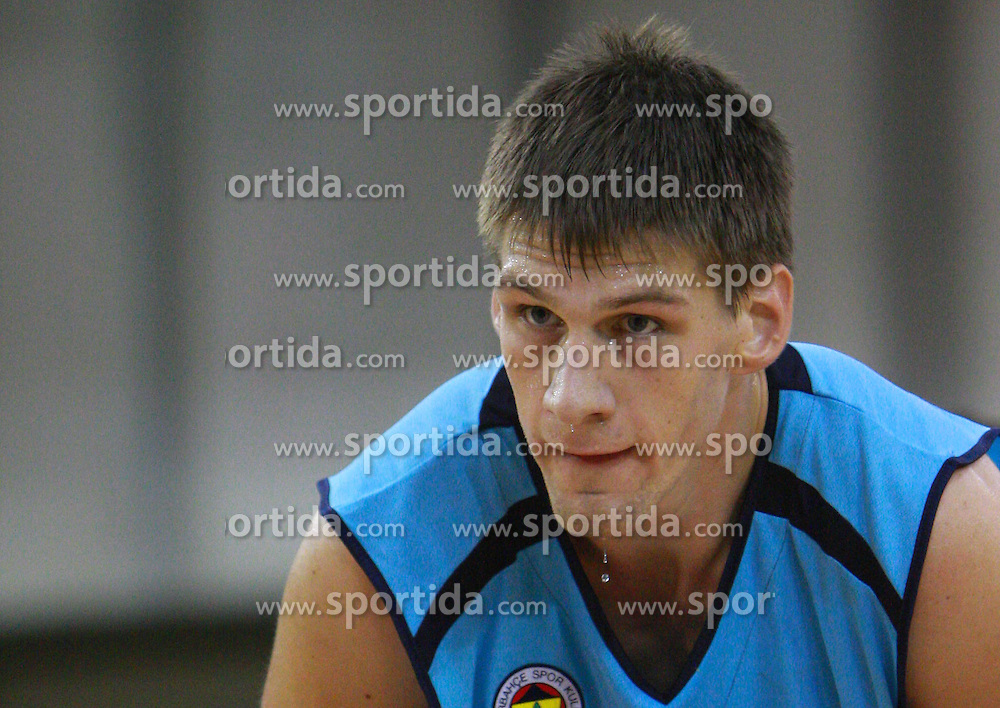 Gasper Vidmar of Fenerbahce at Pre-season basketball tournament between Panathinaikos, Athen, and Fenerbahce Ulker, Istanbul, on September 28, 2008, in Arena Tivoli in Ljubljana. Match was won by Fenerbahce 82:74. (Photo by Vid Ponikvar / Sportal Images)