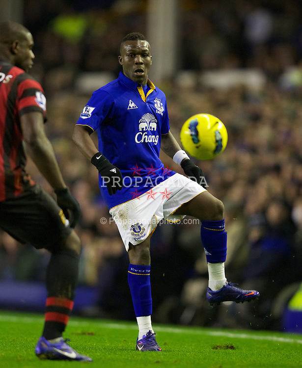 LIVERPOOL, ENGLAND - Tuesday, January 31, 2012: Everton's Royston Drenthe during the Premiership match against Manchester City at Goodison Park. (Pic by Vegard Grott/Propaganda)