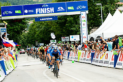 Peloton in Ajdovscina during 4th Stage of 26th Tour of Slovenia 2019 cycling race between Nova Gorica and Ajdovscina (153,9 km), on June 22, 2019 in Slovenia. Photo by Vid Ponikvar / Sportida