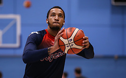 Gentry Thomas of Bristol Flyers during the warm up - Photo mandatory by-line: Arron Gent/JMP - 02/11/2019 - BASKETBALL - Surrey Sports Park - Guildford, England - Surrey Scorchers v Bristol Flyers - British Basketball League Cup