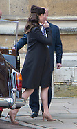 01.04.2018; Windsor,UK: KATE MIDDLETON JOINS ROYALS FOR EASTER SERVICE<br /> The Duchess of Cambridge who is due to give birth to her third child was accompanied by Prince William to the Easter Church Service at St George&rsquo;s Chapel, Windsor Castle.<br /> Other royals who joined Queen Elizabeth for the service were Princess Eugenie and fiance Jack Brooksbank, Princess Beatrice, Prince Andrew, Princess Anne, Prince Edward, Sophie, Countess of Wessex, Peter Phillips, Autumn Phillips, Zara Tindall, Lady Lousie Windsor and Viscount Severn<br /> Mandatory Photo Credit: &copy;Dias/NEWSPIX INTERNATIONAL<br /> <br /> IMMEDIATE CONFIRMATION OF USAGE REQUIRED:<br /> Newspix International, 31 Chinnery Hill, Bishop's Stortford, ENGLAND CM23 3PS<br /> Tel:+441279 324672  ; Fax: +441279656877<br /> Mobile:  07775681153<br /> e-mail: info@newspixinternational.co.uk<br /> Usage Implies Acceptance of Our Terms &amp; Conditions<br /> Please refer to usage terms. All Fees Payable To Newspix International