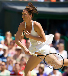 LONDON, ENGLAND - Saturday, June 28, 2008: Jelena Jankovic (SRB) during her third round match on day six of the Wimbledon Lawn Tennis Championships at the All England Lawn Tennis and Croquet Club. (Photo by David Rawcliffe/Propaganda)