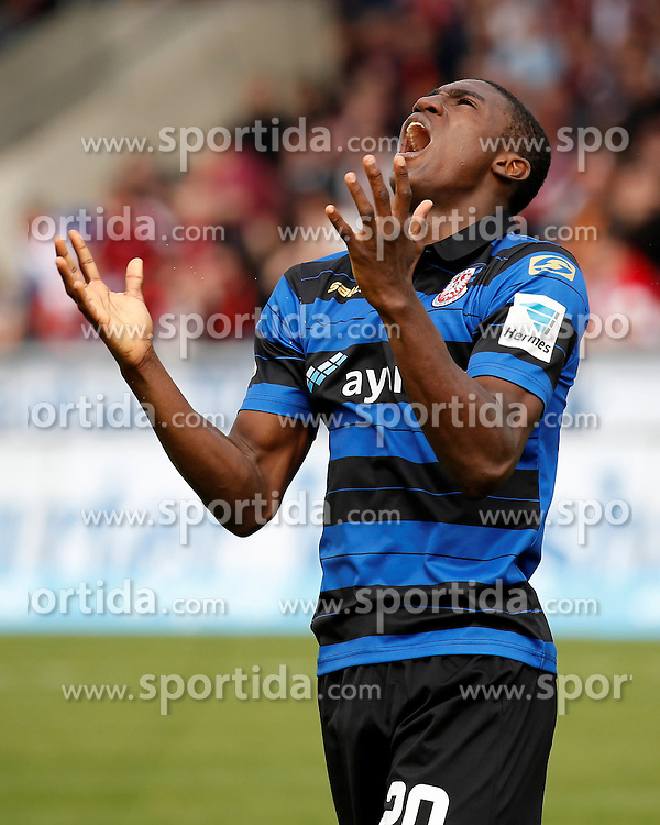 03.04.2016, Volksbank Stadion, Frankfurt, GER, 2. FBL, FSV Frankfurt vs 1. FC Nuernberg, 28. Runde, im Bild Taiwo Awoniyi (FSV, 20) enttaeuscht // during the 2nd German Bundesliga 28th round match between FSV Frankfurt and 1. FC Nuernberg at the Volksbank Stadion in Frankfurt, Germany on 2016/04/03. EXPA Pictures &copy; 2016, PhotoCredit: EXPA/ Eibner-Pressefoto/ RRZ<br /> <br /> *****ATTENTION - OUT of GER*****