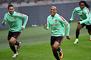 Joao Mario during the Portugal training session at Wembley Stadium, London, England on 1 June 2016. Photo by Jon Bromley.
