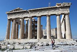 March 11, 2020, Athens, Greece: Parthenon monument empty from tourists. Greek tourism hit hard by cancellations amid coronavirus outbreak. (Credit Image: © Aristidis VafeiadakisZUMA Wire)
