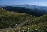 France. Massif Central.massif central. landscape   la chaine des Puy. View from the Puy de dome.    France  /   Massif central  la chaîne des puy. vue depuis le puy de dôme France