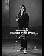 Cover of the Celebrating the Walla Walla Women of Wine 2017 Calendar featuring Amy Alverez-Wampfler, wine maker for Abeja Winery