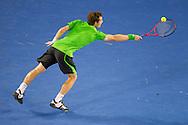 "Andy Murray(GBR)[5].2011 Australian Open Tennis.Mens Singles.Final.""Rod Laver Arena"", Melbourne Park, Melbourne, Victoria, Australia.30/01/11.Photo By Lucas Wroe"