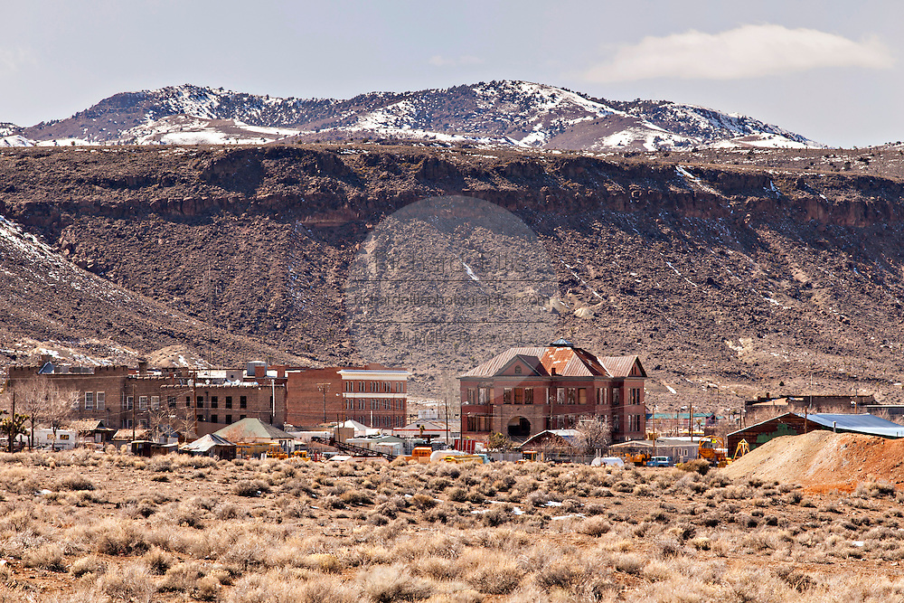 Former gold mining boomtown turned ghost town Goldfield, Nevada, USA
