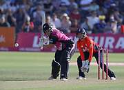 Jess Watkin bats during the international T20 between England Women and the White Ferns at the Brightside Ground, Bristol. Photo: Graham Morris/www.photosport.nz 28/06/18 NZ USE ONLY