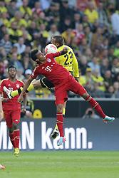 04.05.2013, Signal Iduna Park, Dortmund, GER, 1. FBL, Borussia Dortmund vs FC Bayern Muenchen, 32. Runde, im Bild Duell Julian SCHIEBER (Borussia Dortmund - BVB - 23) - Luiz GUSTAVO (FC Bayern Muenchen - 30) // during the German Bundesliga 32th round match between Borussia Dortmund and FC Bayern Munich at the Signal Iduna Park, Dortmund, Germany on 2013/05/04. EXPA Pictures © 2013, PhotoCredit: EXPA/ Eibner/ Gerry Schmit..***** ATTENTION - OUT OF GER *****