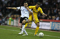 Photo: Pete Lorence.<br />Derby County v Bristol Rovers. The FA Cup. 27/01/2007.<br />Craig Fagan and Andy Sandell battle for the ball.
