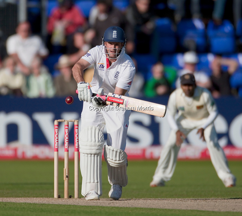 Andrew Strauss bats during his century in the first npower Test Match between England and Sri Lanka at the SWALEC Stadium, Cardiff.  Photo: Graham Morris (Tel: +44(0)20 8969 4192 Email: sales@cricketpix.com) 27/05/11