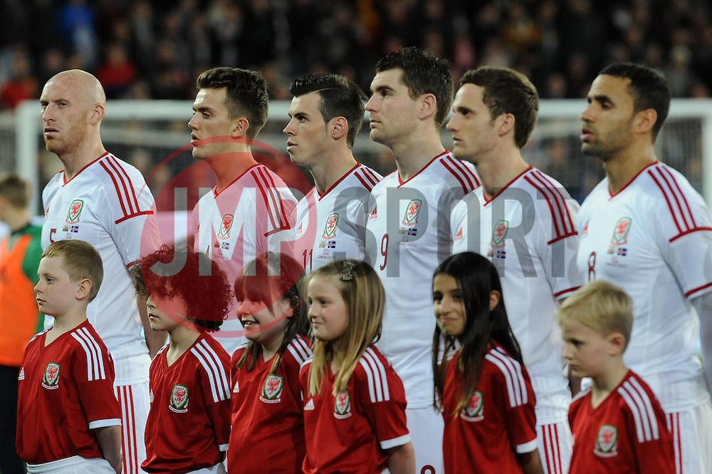The Wales team line up - Photo mandatory by-line: Dougie Allward/JMP - Tel: Mobile: 07966 386802 03/03/2014 -