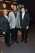 New York, NY-October 19:  l to r: Rev. Al Sharpton, Actor/Producer Tyler Perry, and New York Governor Andrew Cuomo at the 2nd Annual National Action Network's Triumph Awards in the Arts, Entertainment & Sports held at Jazz at Lincoln Center on October 19, 2011 in New York City.  Photo Credit: Terrence Jennings