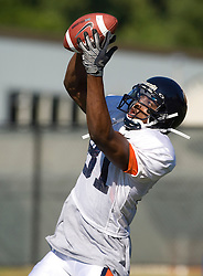 Virginia wide receiver Dontrelle Inman (81).  The Virginia Cavaliers football team during an open practice on August 9, 2008 at the University of Virginia's football turf field in Charlottesville, VA.