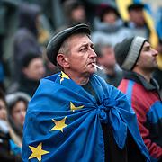 Manifestation d'opposition à Kiev - Ukraine ayant rassemblé près de 500000 personnes atour de la place de l'indépendance le dimanche 1er décembre 2013.