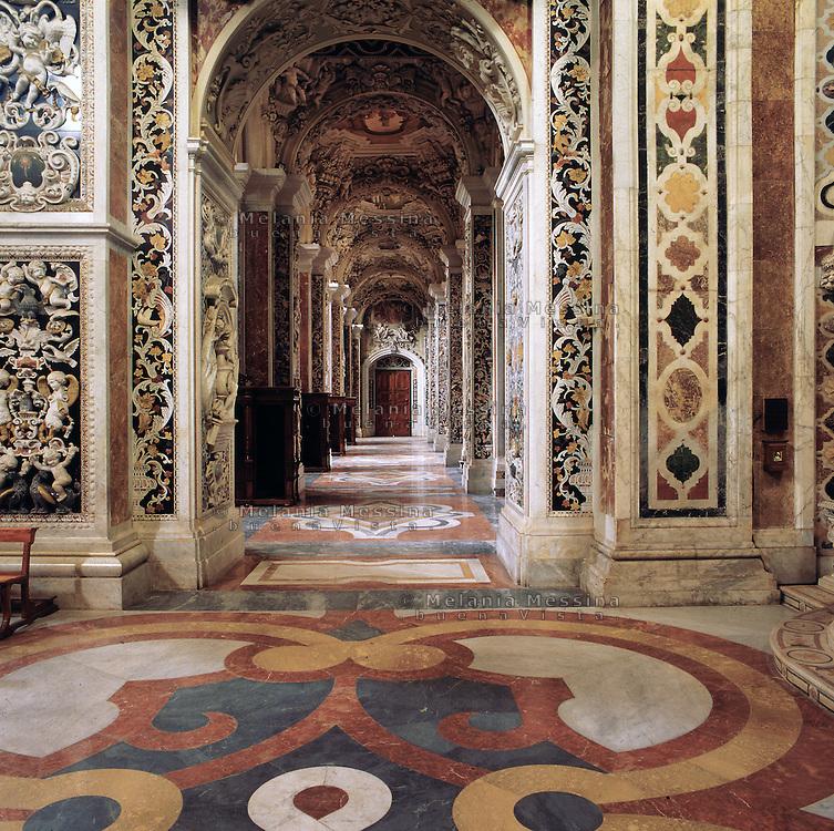 Palermo, &quot;Del Gesu'&quot; church, baroque art.<br /> Palermo, chiesa del Gesu', arte barocca.