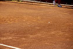 June 16, 2018 - L'Aquila, Italy - A butterfly during match between Zhizhen Zhang (CHN) and Manuel Sanchez (MEX) during day 1 at the Interzionali di Tennis Citt dell'Aquila (ATP Challenger L'Aquila) in L'Aquila, Italy, on June 16, 2018. (Credit Image: © Manuel Romano/NurPhoto via ZUMA Press)
