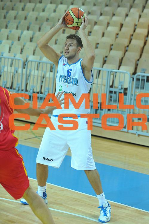DESCRIZIONE : Koper Capodistria Amichevole Italia Montenegro<br /> GIOCATORE : stefano mancinelli<br /> CATEGORIA : passaggio<br /> SQUADRA : Nazionale Italia Maschile<br /> EVENTO :  Amichevole Italia Montenegro<br /> GARA : Italia Montenegro<br /> DATA : 22/08/2013<br /> SPORT : Pallacanestro<br /> AUTORE : Agenzia Ciamillo-Castoria/M.Gregolin<br /> Galleria : FIP Nazionali 2013<br /> Fotonotizia : Koper Capodistria Amichevole Italia Montenegro<br /> Predefinita :