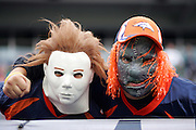 DENVER - OCTOBER 30:  Denver Broncos fans in Halloween costumes for the game against the Philadelphia Eagles on October 30, 2005 at INVESCO Field at Mile High in Denver, Colorado. The Broncos defeated the Eagles 49-21. ©Paul Anthony Spinelli