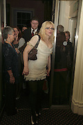 COURTNEY LOVE, Literary Review's Bad Sex In Fiction Prize.  In & Out Club (The Naval & Military Club), 4 St James's Square, London, SW1, 29 November 2006. <br />