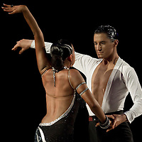 23 January 2010: Elena Salikohva and Charles-Guillaume Schmitt perform during the Masters Bercy Latin and Ballroom (standard) Dancesport Championship 2010, at Palais Omnisports Paris Bercy, in Paris, France. .