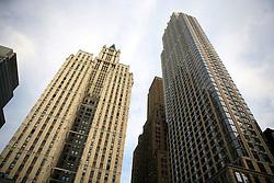 USA NEW YORK 5JUN10 - Old and new tall buildings  in downtown Manhattan, New York...jre/Photo by Jiri Rezac..© Jiri Rezac 2010