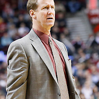 04 December 2013: Portland Trail Blazers head coach Terry Stotts is seen during the Portland Trail Blazers 111-104 victory over the Oklahoma City Thunder at the Moda Center, Portland, Oregon, USA.