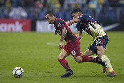 April 9, 2018 - Mexico City, MEXICO CITY, Mexico - Sebastian Giovinco of Toronto FC struggles for the ball with Bruno Valdez of Club America during 2018 CONCACAF Champions League Semifinals, Leg 2 match between Club America and Toronto FC at Azteca Stadium in Mexico City, Mexico on 10 April, 2018. (Credit Image: © Ernesto Perez/NurPhoto via ZUMA Press)