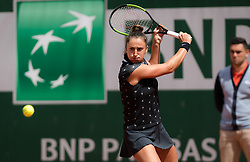 May 29, 2019 - Paris, FRANCE - Sara Sorribes Tormo of Spain in action during her second-round match at the 2019 Roland Garros Grand Slam tennis tournament (Credit Image: © AFP7 via ZUMA Wire)