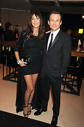TAMARA MELLON and CHRISTIAN SLATER at the 2008 British Fashion Awards held at the Lawrence Hall, Westminster, London on 25th November 2008.