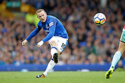 Everton striker Wayne Rooney (10) during the Premier League match between Everton and Burnley at Goodison Park, Liverpool, England on 1 October 2017. Photo by Craig Galloway.