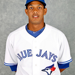 March 2, 2012; Dunedin, FL, USA; Toronto Blue Jays right fielder Ricardo Nanita (64) poses for a portrait during photo day at Florida Auto Exchange Stadium.  Mandatory Credit: Derick E. Hingle-US PRESSWIRE