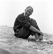 Bill Brandt on beach, 1940s