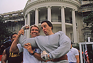 "Arnold Schwartzenneger at the ""Great American Workout"" event held on the South Lawn of the White House..Photograph by Dennis Brack bb25"