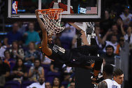 Mar 17, 2017; Phoenix, AZ, USA; Phoenix Suns forward Derrick Jones Jr. (10) dunks the ball against the Orlando Magic in the first half of the NBA game at Talking Stick Resort Arena. Mandatory Credit: Jennifer Stewart-USA TODAY Sports