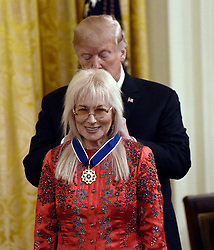US President Donald Trump awards the Presidential Medal of Freedom to Doctor Miriam Adelson at the White House in Washington, DC, on November 16, 2018. - The Medal is the highest civilian award of the United States. Photo by Olivier Douliery/ABACAPRESS.COM