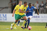 Benson Kpaka of Billericay and Tom Adeyemi of Norwich in action during a pre season friendly at New Lodge Stadium, Billericay...Picture by Paul Chesterton/Focus Images Ltd.  07904 640267.4/8/11