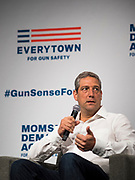 10 AUGUST 2019 - DES MOINES, IOWA: Congressman TIM RYAN (D-OH), a Democratic Presidential candidate, answers questions from gun violence survivors at the Presidential Gun Sense Forum. Several thousand people from as far away as Milwaukee, WI, and Chicago, came to Des Moines Saturday for the Presidential Gun Sense Forum. Most of the Democratic candidates for president attended the event, which was organized by Moms Demand Action, Every Town for Gun Safety, and Students Demand Action.     PHOTO BY JACK KURTZ
