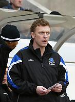 Photo: Andrew Unwin.<br />Sunderland v Everton. The Barclays Premiership. 31/12/2005.<br />Everton's under-pressure manager, David Moyes.