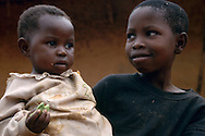 Children in a remote village of southeast Cameroon.