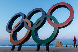 08-02-2018 KOR: Olympic Games day -1, Pyeongchang<br /> Olympic Rings during a preliminary reports ahead of the opening of the Pyeongchang 2018 Winter Olympic Games at the Gangneung Oval in Gangneung, South Korea on 2018/02/05<br /> <br /> *** USE NETHERLANDS ONLY ***