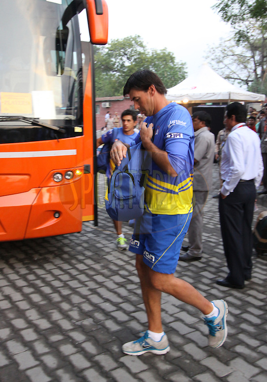 Stephen Fleming csk coach arrive before  match 26 of the Pepsi Indian Premier League Season 2014 between the Delhi Daredevils and the Chennai Superkings held at the Ferozeshah Kotla cricket stadium, Delhi, India on the 5th May  2014Photo by Arjun Panwar / IPL / SPORTZPICSImage use subject to terms and conditions which can be found here:  http://sportzpics.photoshelter.com/gallery/Pepsi-IPL-Image-terms-and-conditions/G00004VW1IVJ.gB0/C0000TScjhBM6ikg